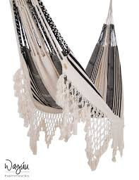tuchin hammock in black white stripes wayuu hammocks