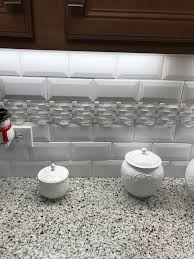 subway kitchen backsplash kitchen backsplash 3x6 white subway tile with deco accent strip