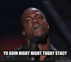 Stacy Meme - yo goin night night today stacy kevin hart funny quickmeme