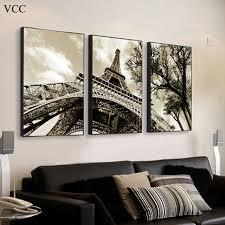 Eiffel Tower Garden Decor Paris Eiffel Tower Canvas Art Picture Paintings On The Wall Art
