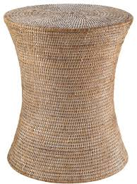 Rattan Accent Table Brilliant Rattan Accent Table Whitewashed Woven Rattan Stool