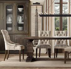 Tufted Dining Chair Set Astounding Dining Chairs Trenchmice Of Linen Tufted