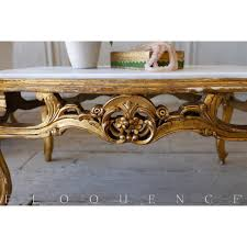 french country style eloquence vintage coffee table with marble