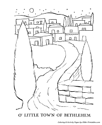 christmas story coloring pages town bethlehem