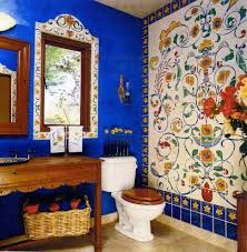 mexican tile design bathroom mediterranean with arched door white