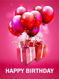 fantastic pink birthday balloon card birthday greeting cards