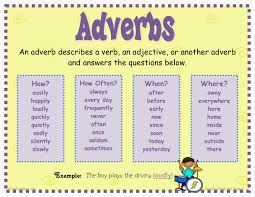 adverbs learning english