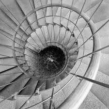 spiral staircase dwp building los angeles chad jones photography