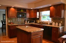 cherry cabinets in small kitchen nrtradiant com
