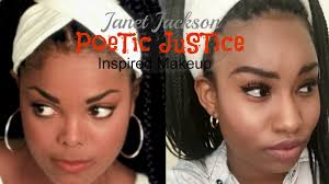 women of the 90s janet jackson poetic justice inspired makeup