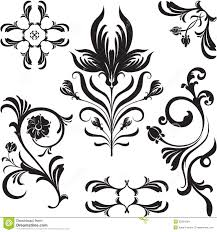 set of flowers ornament design stock images image 35924264