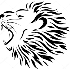 lion tribal tattoo u2014 stock vector idesign2000 10671400