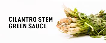 save the food recipe cilantro stem green sauce