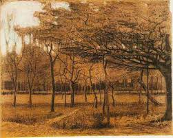 landscape with trees 1881 vincent van gogh wikiart org
