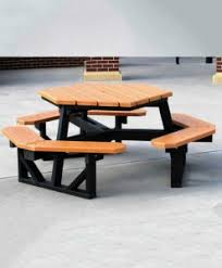 Exteriors Recycled Plastic Picnic Tables Cedar Hexagon Picnic by Picnic Tables Commercial Picnic Tables Park Warehouse