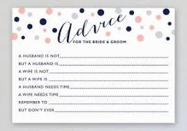 wedding advice card wedding advice card 6 card design ideas
