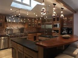interior three pendant unique kitchen island lighting with black