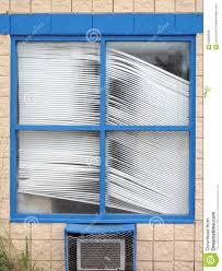 crooked old window blinds stock photo image 58909506