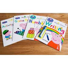 peppa pig wipe clean activity book