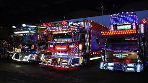 neon lights for trucks illuminating japanese dekotora trucks youtube