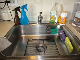 How To Clean The Kitchen Sink How To Keep Kitchen Sinks And Sponges Clean Naturally Bubbly