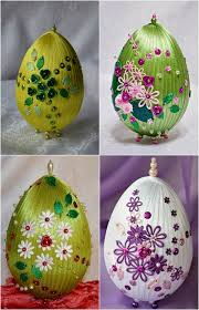 faux easter eggs 10 diy easter craft ideas using styrofoam eggs for adults