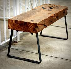 Wood Bench Metal Legs Reclaimed Wood And Iron Bench We Bought For Our Mud Room Our