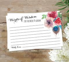 Words Of Wisdom For Bride And Groom Cards Printable Words Of Wisdom For The Bride U0026 Groom Cards