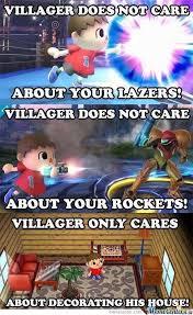 Smash Bros Memes - super smash bros villager by zappintitaki meme center