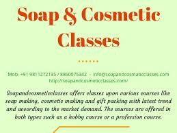 cosmetic classes professional soap classes india