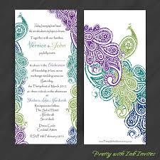 Wedding Invitations Purple Purple And Teal Wedding Invitations Reduxsquad Com