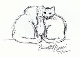 daily sketch black cats on green sheets the creative cat