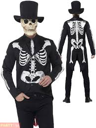 Skeleton Halloween Dress by Mens Day Of The Dead Senor Costume Adults Skeleton Halloween Fancy