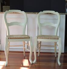Pottery Barn Boston Ma Pottery Barn French Country Rush Seat Side Chairs Ebth