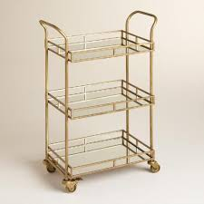 Rolling Bathroom Cart Gold Cole 3 Tier Rolling Bar Cart Bar Carts Bar And Gold