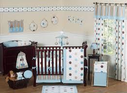 blue u0026 brown polka dot baby crib bedding 9pc nursery set