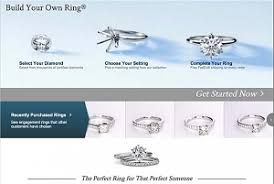 build your own ring using blue nile diamond search vs build your own ring