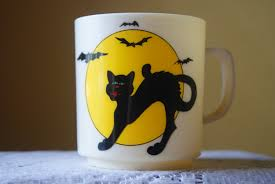 vintage halloween handled mug child u0027s cup retro black cat full