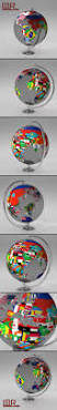 World Map With Flags Earth Globe World Map With Flags By Umurdesign 3docean