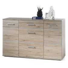 Schlafzimmer Kommode Eiche Hell Kommode Sideboard Highboard In Eiche San Remo Hell 130 Cm Breit