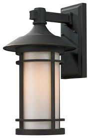 Craftsman Sconces Oil Rubbed Bronze Woodland Single Light Outdoor Wall Sconce