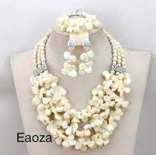 african beads necklace sets images White new arrival african nigerian crystal and natural coral bead