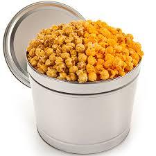 caramel cheddar popcorn tin by gourmetgiftbaskets