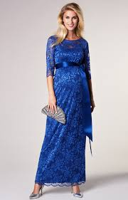 maternity wear amelia lace maternity dress blue maternity