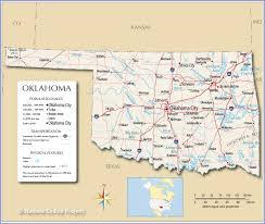 Colorado River On A Map by Reference Map Of Oklahoma Usa Nations Online Project