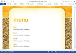 menu template free powerpoint menu template best menu maker templates for word