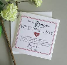 wedding card to groom from 33 best personalised wedding party cards images on