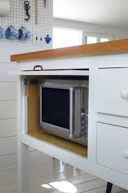 kitchen island microwave 11 strategies for hiding the microwave remodelista