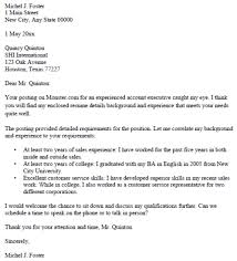 account executive cover letter sample printable job application