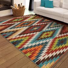 Aztec Area Rug Orian Rugs Indoor Outdoor Bright Aztec Prescott Multi Area Rug